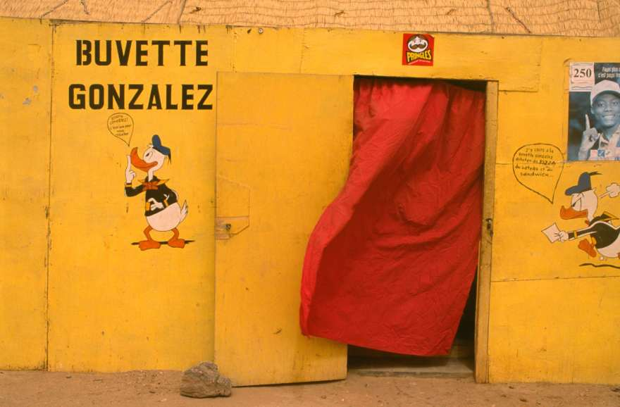 Donald Duck Gonzalez shop in Agadez